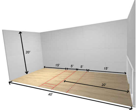 Dimensions of a Racquetball Court